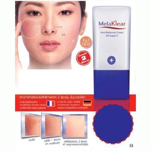 Melaklear Anti-melasma Cream Vit Super C Reduce Blemish Dark & Brown Spots By Mistine Product of Thailand