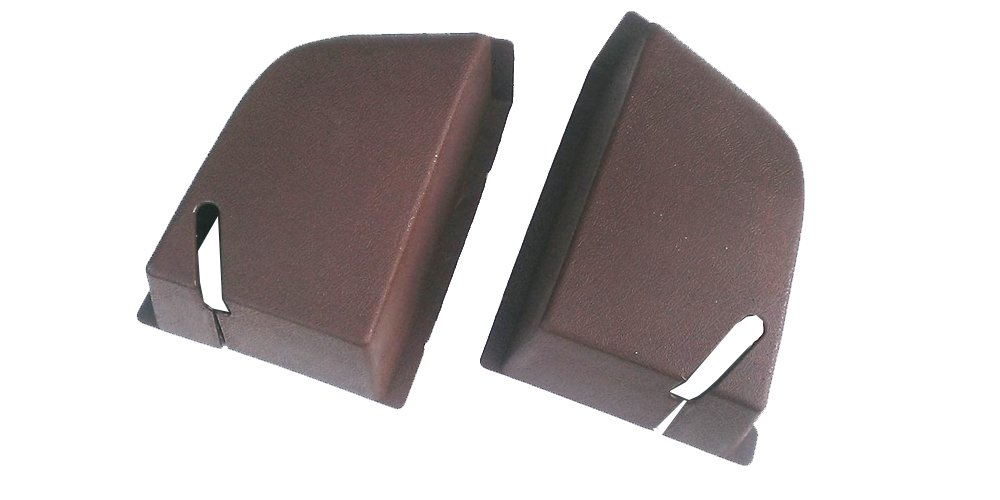 Volvo 240 244 Rear Seat Belt Cover Set Brown New Reproduction 1294750 1294751 by Swedish Car Parts   B00VKUK5GS