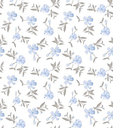 Papel de Parede Floral Bobinex Uau Azul