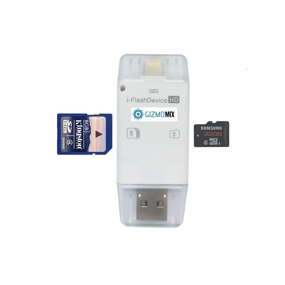 Memory Card Reader Lightning iReader USB OTG Micro SD Card Adapter for iPhone 6 6S Plus iPad Air 2 Android Samsung HTC Tablet PC Trail/Deer/Game Cam