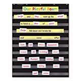 Standard Pocket Charts, 34 x 44, Black/Clear, Sold as 1 Each