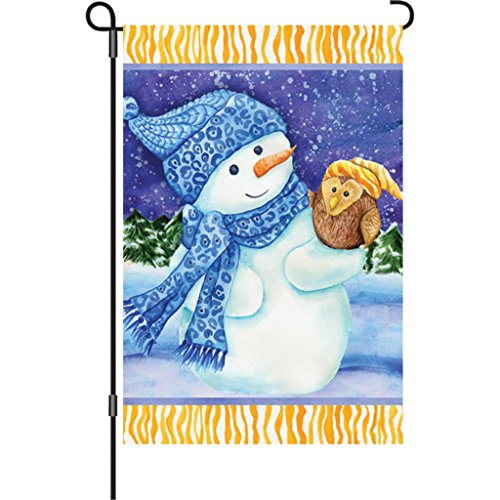 12 In. Flag - Snowman And Owl (Banner 2 Flag Sided Premier)