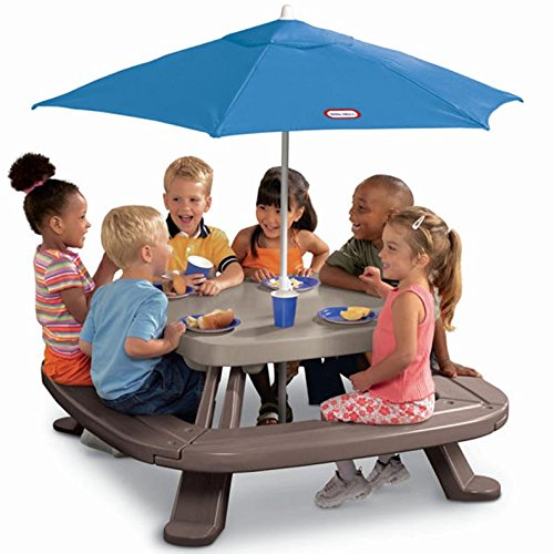- Little Tikes Fold 'n Store Picnic Table with Market Umbrella