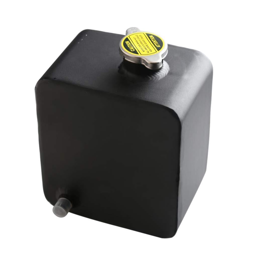 Gazechimp Universal 2.5L Alloy Wasserk/ühlmittel Ausgleichsbeh/älter Auto Boot LKW Poliert Schwarz