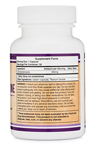 Centrophenoxine Capsules 300mg, 50 Count (Made and Tested in the USA) by Double Wood Supplements