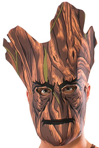 Rocket And Groot Costumes (Rubie's Costume Co Men's Guardians Of The Galaxy Groot Foam Mask, Multi, One Size)