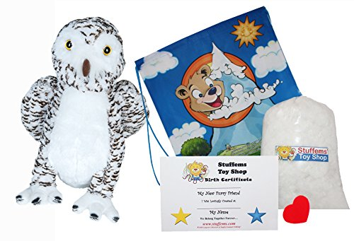 "Wise Owl 16"" Make Your Own Stuffed Animal- No Sew - Kit with"