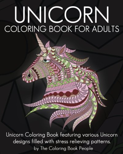 Unicorn Coloring Book For Adults Featuring Various Designs Filled With Stress