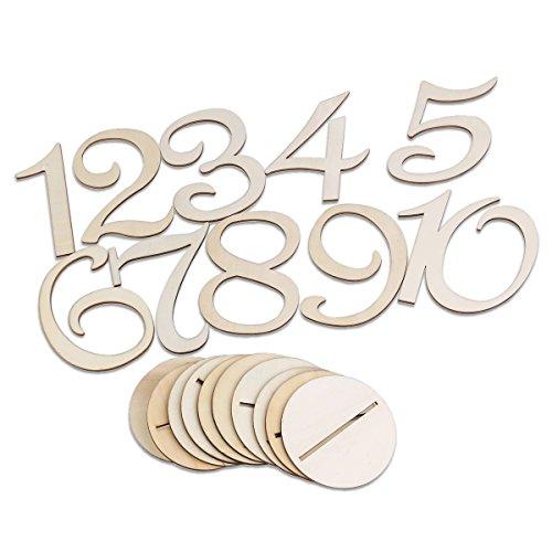 Tinksky Tischnummern Hochzeit 1-10 tischnummern für Hochzeit Geburtstag Party Dekoration 10ST
