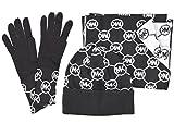 MICHAEL KORS Connecting Circle MK Logo Scarf Hat Gloves 3 PC Set Gift Box