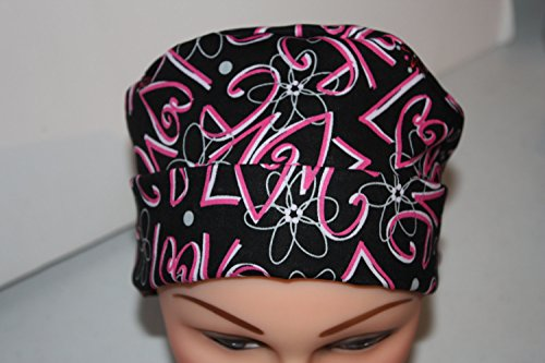 Scrub Hat Chemo Cap Pixie Style Many Color Options Available (love) by Scrumptious Scrub Hatz (Image #2)