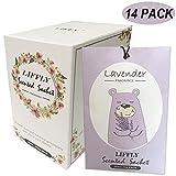 LIFFLY 14 Packs Lavender Scented Sachets Bag for