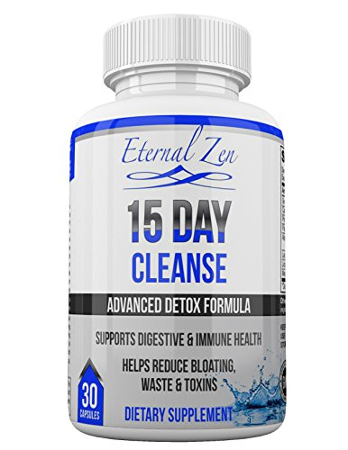 15 Day Colon Cleanse Weight Loss Detox Health Supplement 30 Pills Capsules full of Herbs Probiotics to Support Clean Digestion in Gut for both Men & Women