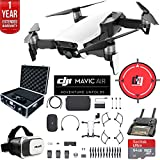 DJI Mavic Air Fly More Combo (Arctic White) Drone Combo 4K Wi-Fi Quadcopter with Remote Deluxe Fly Bundle with Hard Case VR Goggles Landing Pad 64GB microSDXC Card and 1 Year Warranty Extension Review