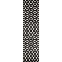 Unique Loom Trellis Collection Black 3 x 10 Runner Area Rug (2 7 x 10)