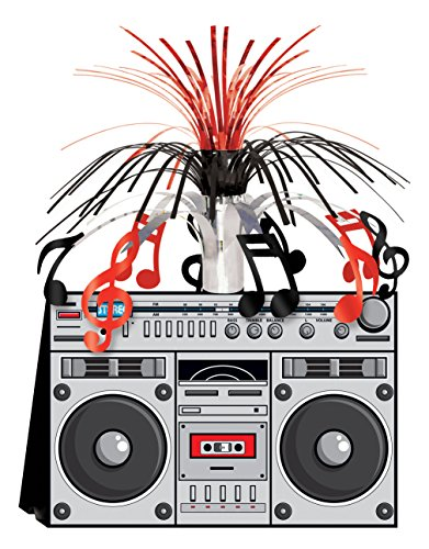 Boom Box Centerpiece Party Accessory (1 count) (1/Pkg)]()