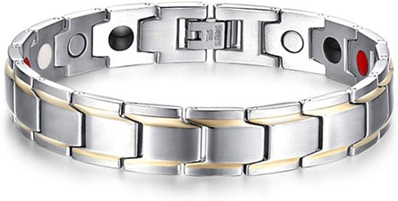 Bracelet Magnétique Acier inoxydable Aimant Homme,femme
