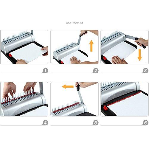 Little-Tomato 21-Hole 450 Sheets Paper Comb Punch Binder Binding Machine Scrapbook