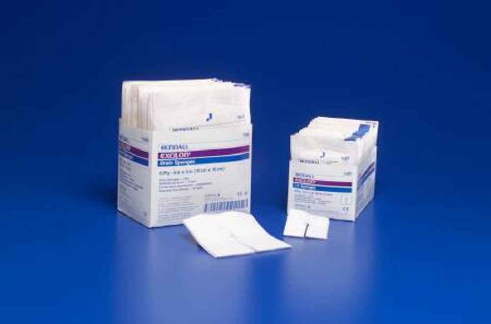 Excilon - I.V. / Drain Split Dressing Excilon - Poly / Rayon Blend 4 X 4 Inch Square Sterile - 600/Case - McK by Excilon