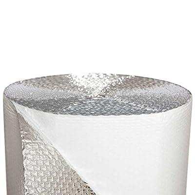 "Westpack F12548 Reflective Foil Bubble Wrap(single bubble) Insulation Roll, 48"" L, 500 sq. ft."
