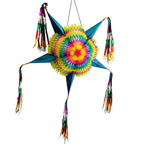 Medium Colorful Foldable Star Pinata Party Decor