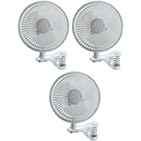 Lasko 6 inch 2 Speed Portable Home Office Personal Clip On Fan, White (3 Pack)