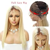 Nobel Hair #4/613 Blonde Peruvian Virgin Human hair Wigs for Women With Baby Hair Pre Plucked Ombre Full Lace Human Hair Wigs Straight Glueless Lace Wigs 20Inch