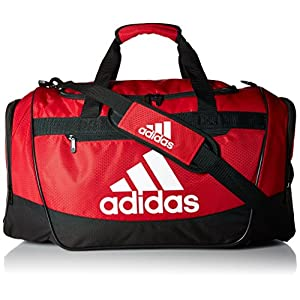 adidas Women's Defender III small duffel Bag, Red/Black/White, One Size