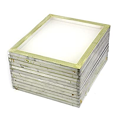 "Commercial Bargains 12 Pack Aluminum Silk Screen Printing Press Screens 110 White Mesh 20"" x 24"""