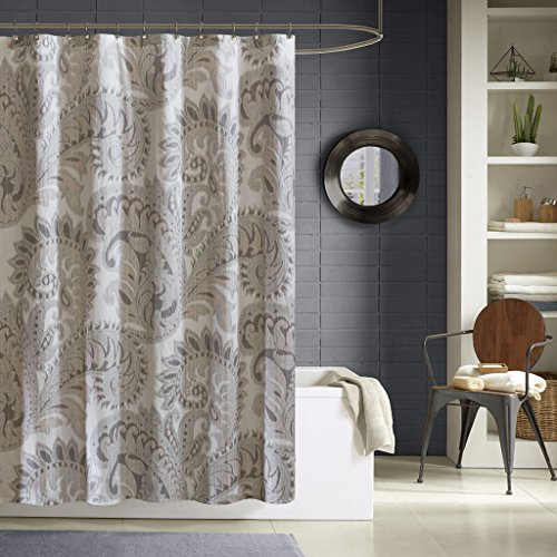 - Ink+Ivy Mira 100% Cotton Printed Shower Curtain Blush 72x72
