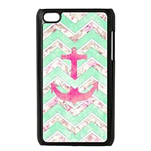 VNCASE Anchor Chevron Phone Case For Ipod Touch 4 [Pattern-1]