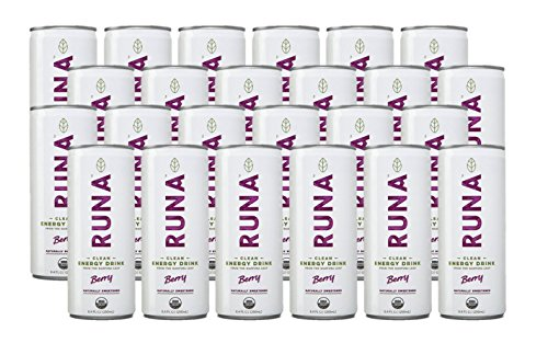 RUNA Clean Energy Drink, Berry, 8.4 Ounce (Pack of 24)