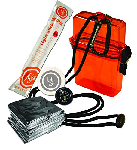UST Watertight Survival Kit 1.0 with Durable, Lightweight Construction, Survival Blanket and Emergency Tools while Camping, Hiking and Outdoor Survival]()