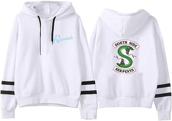 Unisex Felpe con Cappuccio Riverdale Southside Serpents Sportivo Sweatshirt Riverdale Stampa Manica Lunga Hoodie Pullover Maglione Giacca Cappotto per Ragazzi e Ragazze