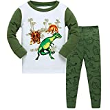 Qtake Fashion Boys Pajamas Children Clothes Dinosaur Set 100% Cotton Little Kids Pjs Sleepwear (7-8 Years, Dinosaur1)