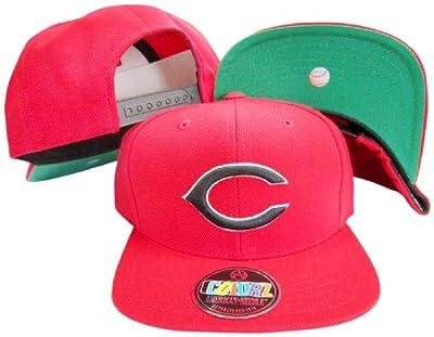 American Needle Cincinnati Reds Red/Black Plastic Snapback Adjustable Snap Back Hat/Cap
