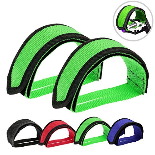 Pedal Straps Pedal Toe Clips Straps Tape for Fixed Gear Bike ()