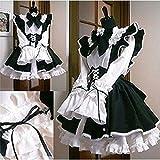 Luxury-Maid-Lolita-Costume-Apron-Ruffle-Headband-Three-piece-Set-Womens-X-large