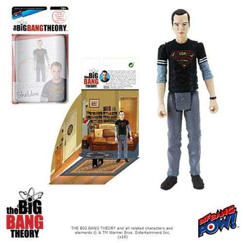 SG/_B01K68KVPE/_US Action Figures Big Bang Theory Sheldon Superman 3 3//4-Inch Figure Bif Bang Pow