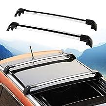 Lockable Cross Bar for Volvo XC XC60 2013-2017 Roof Rack Rail Silver Aluminum