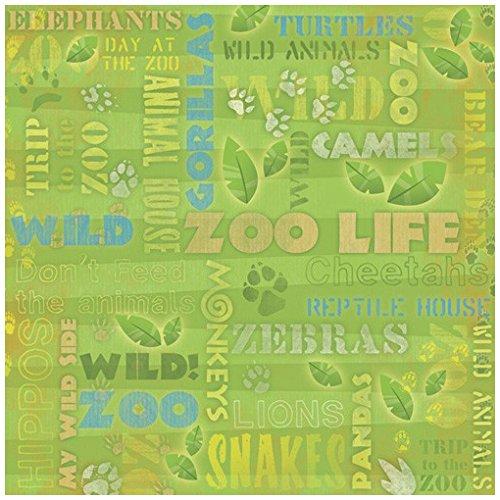 - KAREN FOSTER Design Scrapbooking Paper, 25 Sheets, Zoo Life Collage, 12 x 12