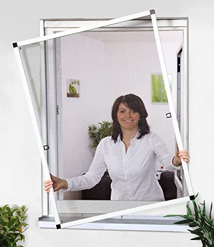 CULEX Sport /& Spieleversand Insektenschutz Fenster Fliegengitter Fliegenschutzfenster Weiss 5er Set bis 130 x 150 cm Montagevideo 1A Profiqualit/ät
