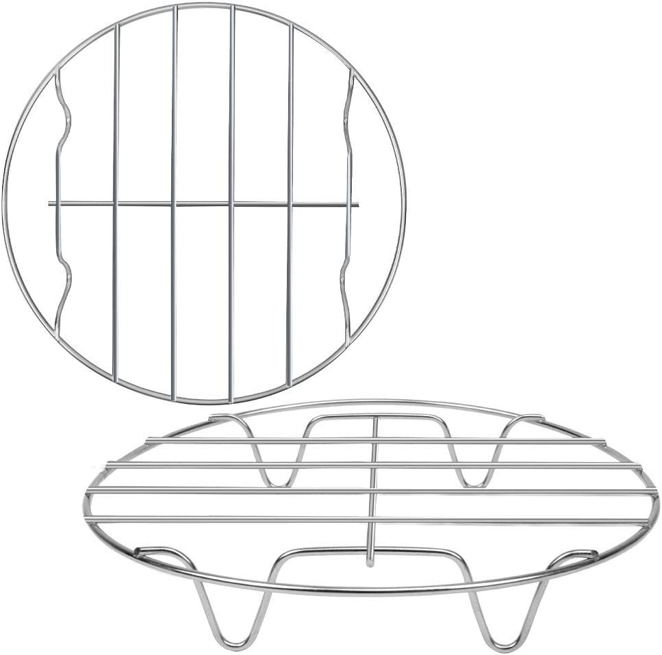 2 Pack Round Cooking Cooling Racks 8