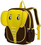 Cute Elephant Kids Pack Toddler Girls Boys Sidekick Backpacks,Yellow