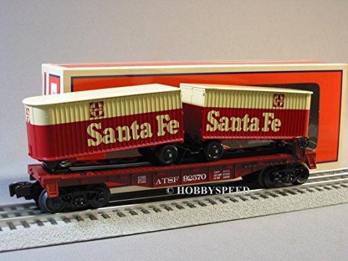 Santa Fe Flat Car (LIONEL ATSF FLATCAR W PIGGYBACK TRAILERS 6-81028 o gauge santa fe flat 6-81660)