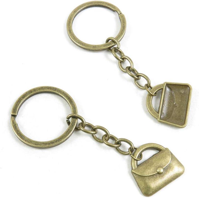 100 Items Keychain Keyring Key Tags Chains Rings Jewelry Bag Charms I3VG3 Handbag Purse Shoulder Bag