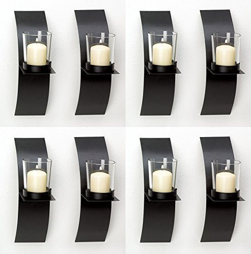 Thegood88 8 Mod-Art Matte Black Votive Candle Holders (Kmart Halloween Decoration Note)