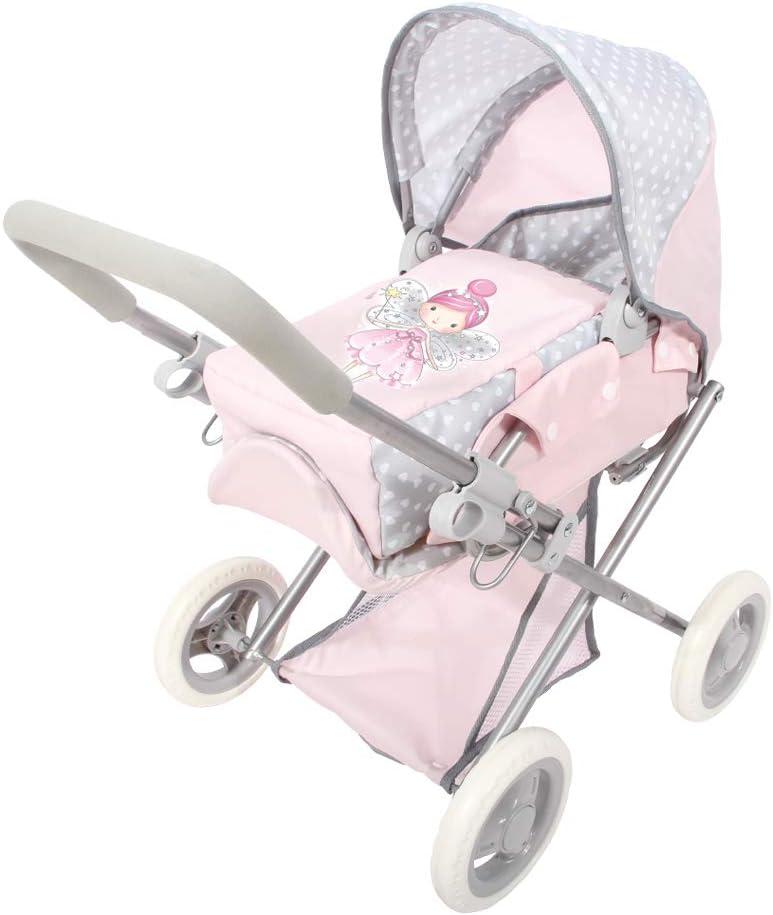 ColorBaby - Cochecito de muñecas plegable 3 en 1 Baby Hadas, Rosa (44920)
