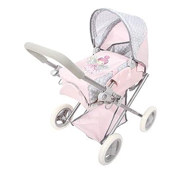ColorBaby - Cochecito de muñecas plegable 3 en 1 Baby Hadas, color rosa (44920)