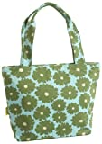 Amy Butler Miss Kim Small Tote,Poppy Flower Green,one size, Bags Central